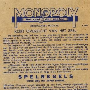 Monopoly-boekje