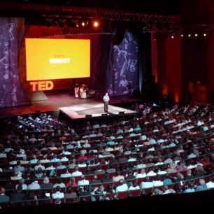 TED on stage