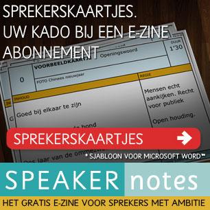 ontvang sprekerskaartjes als kado bij een abonnement op Speaker Notes