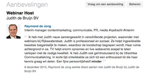 Aanbeveling Raymond de Jong webinars